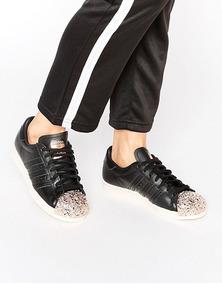 zapatillas adidas superstar negras mujer