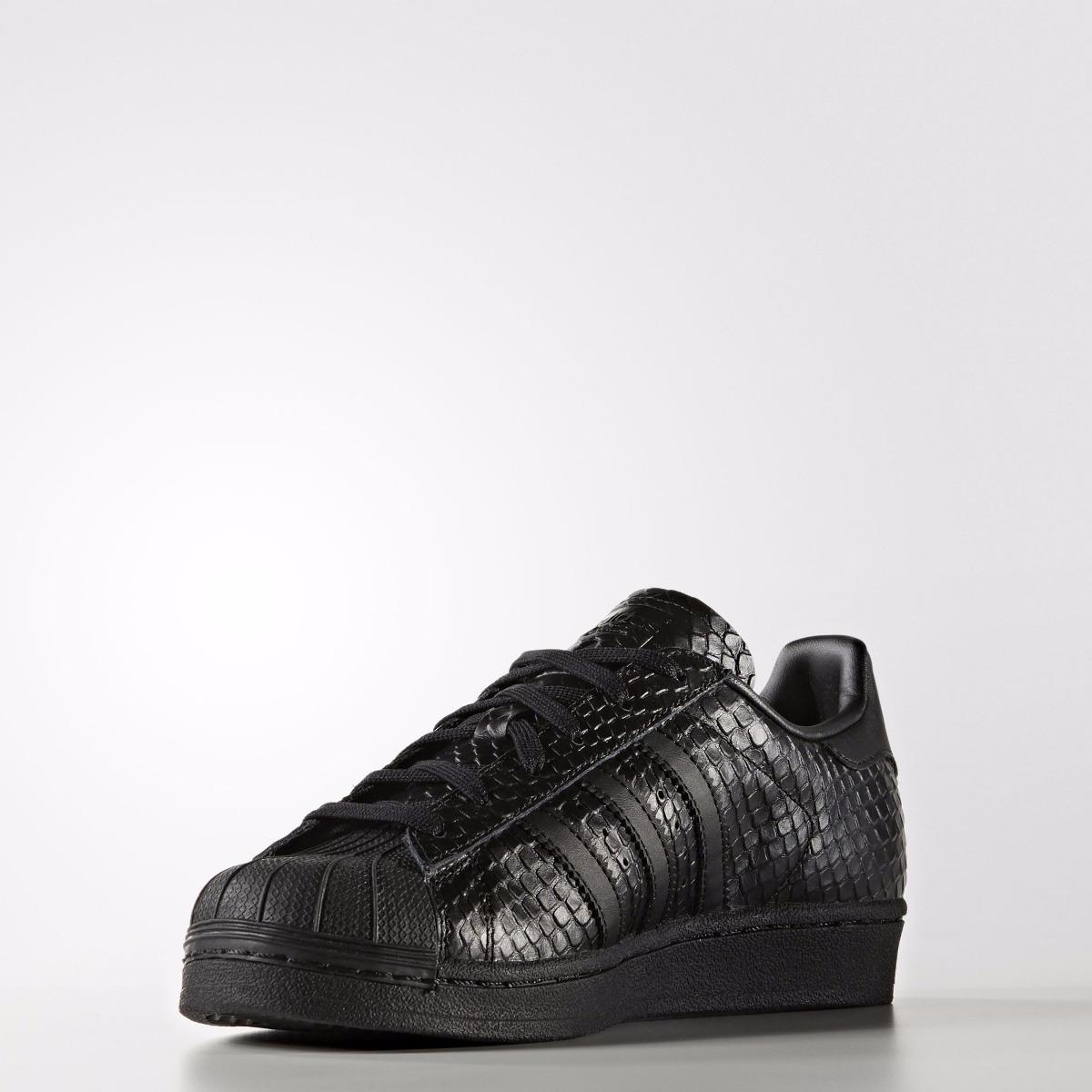 zapatillas adidas negras de piel