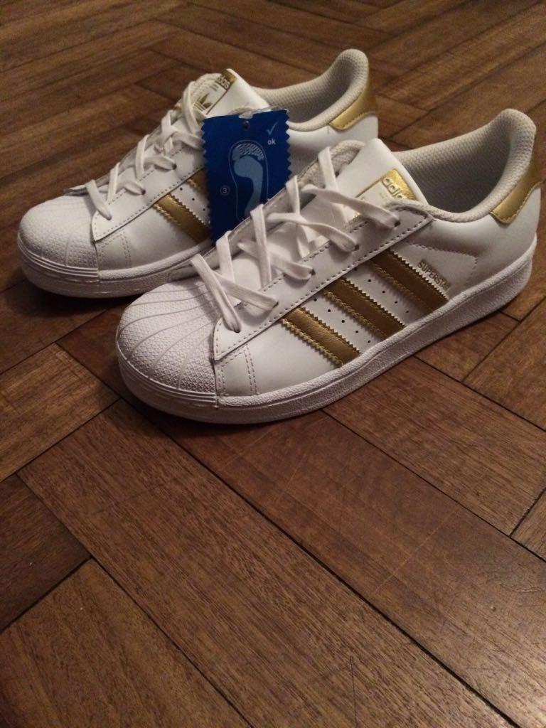Zapatillas Adidas Superstar Original Doradas Talle 35 299900 Cargando Zoom