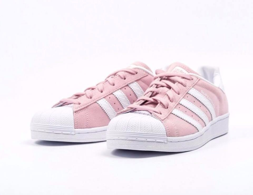superstar rosas claro zapatillas