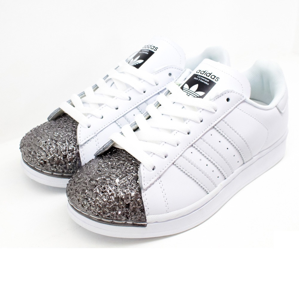 52999e8e27d zapatillas adidas superstar originales metal toe white. Cargando zoom.