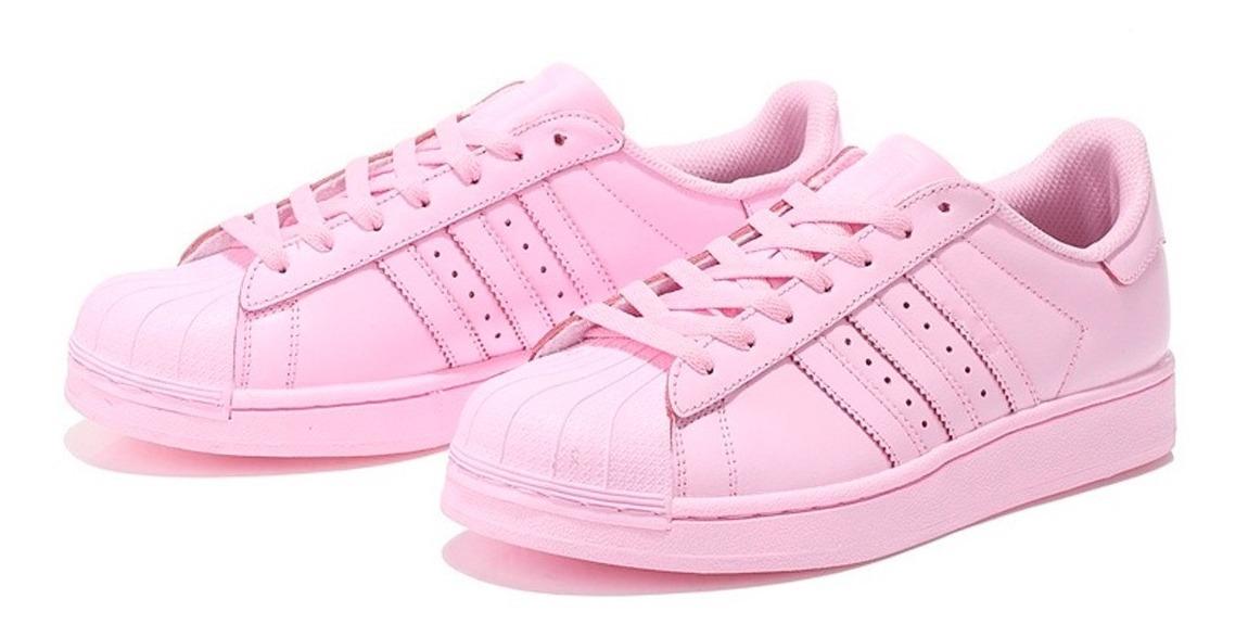 Zapatillas adidas Superstar Originales Mujer Rosas Talle