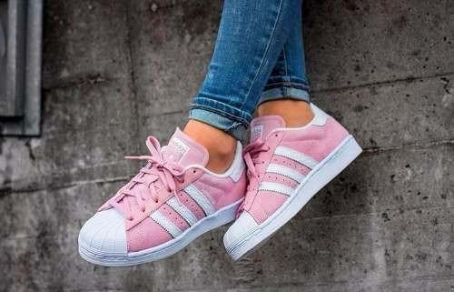 zapatillas adidas mujer blancas y rosas