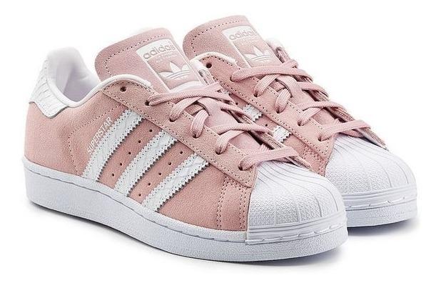 Zapatillas adidas Superstar Originales Mujer Rosas/blancas