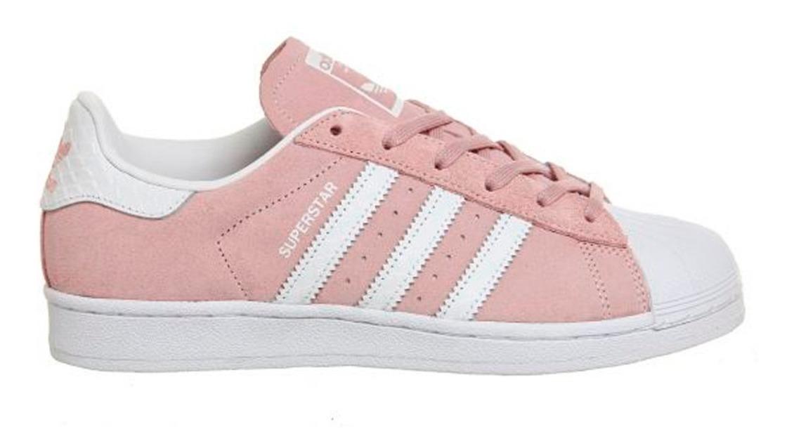 adidas superstar blancas rosa mujer