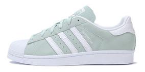 Adidas Mujer Superstar Zapatillas Originales Verde Agua PkOXN08nw