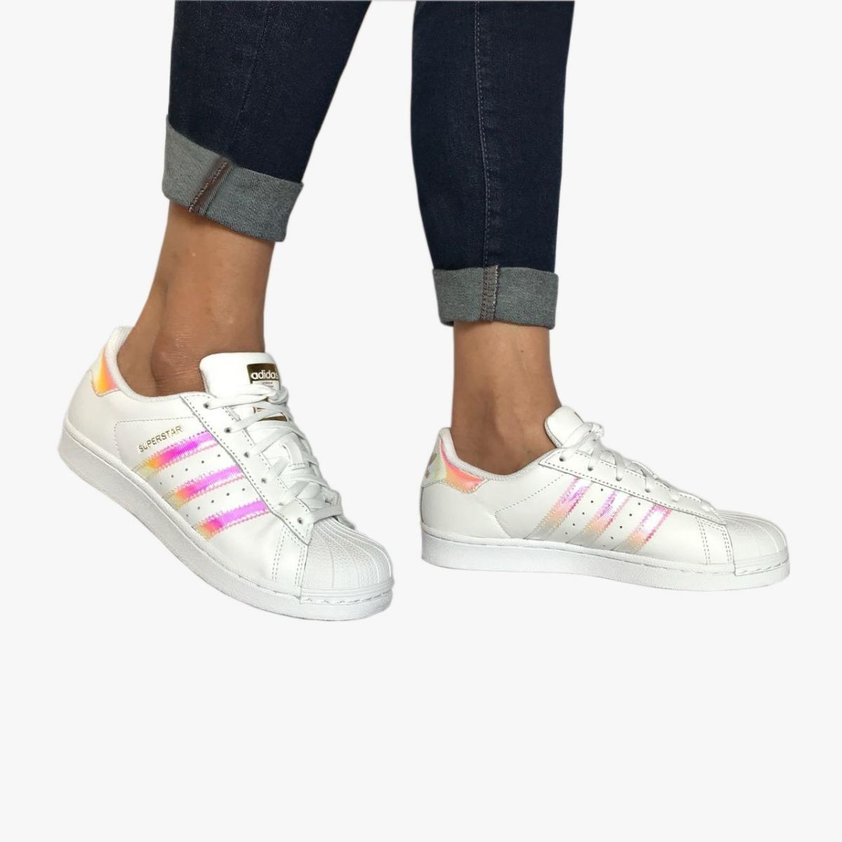 Zapatillas adidas Superstar Originals Holograma Rosa
