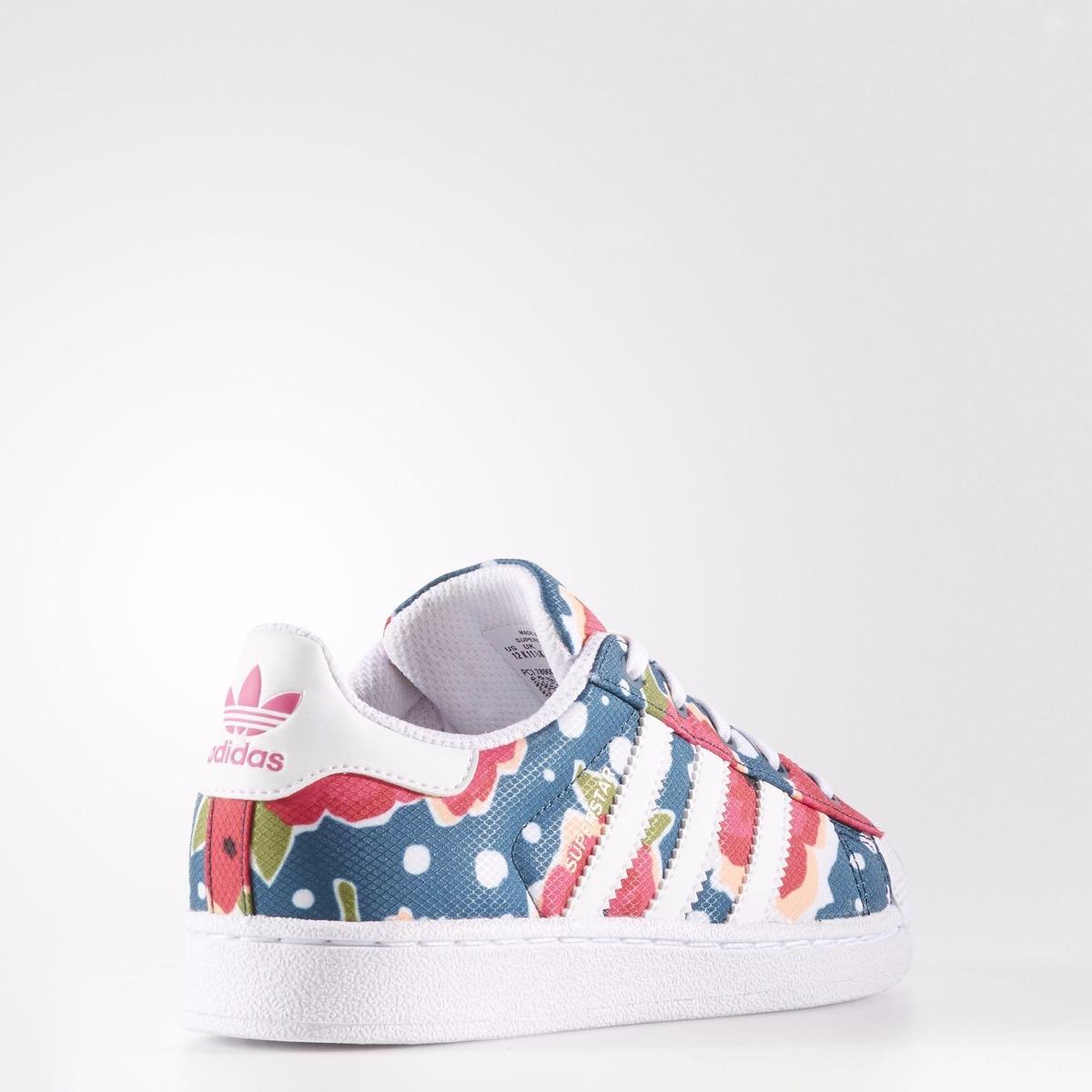 Floral Originals Diseño Adidas Zapatillas Superstar Niña bf7mIg6Yyv