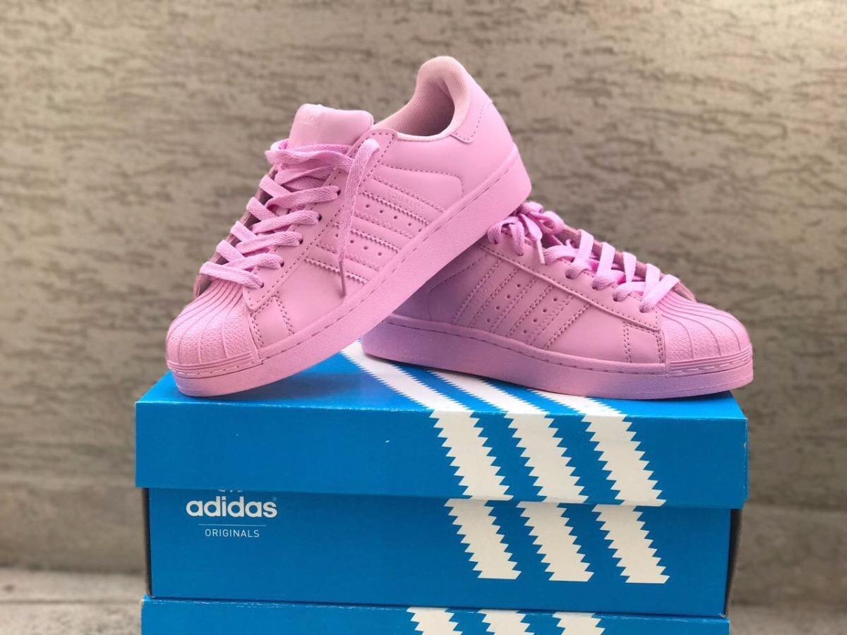 cheap for discount f1fa3 c5de8 zapatillas adidas superstar pharrell willams azul y rosa bb. Cargando zoom.