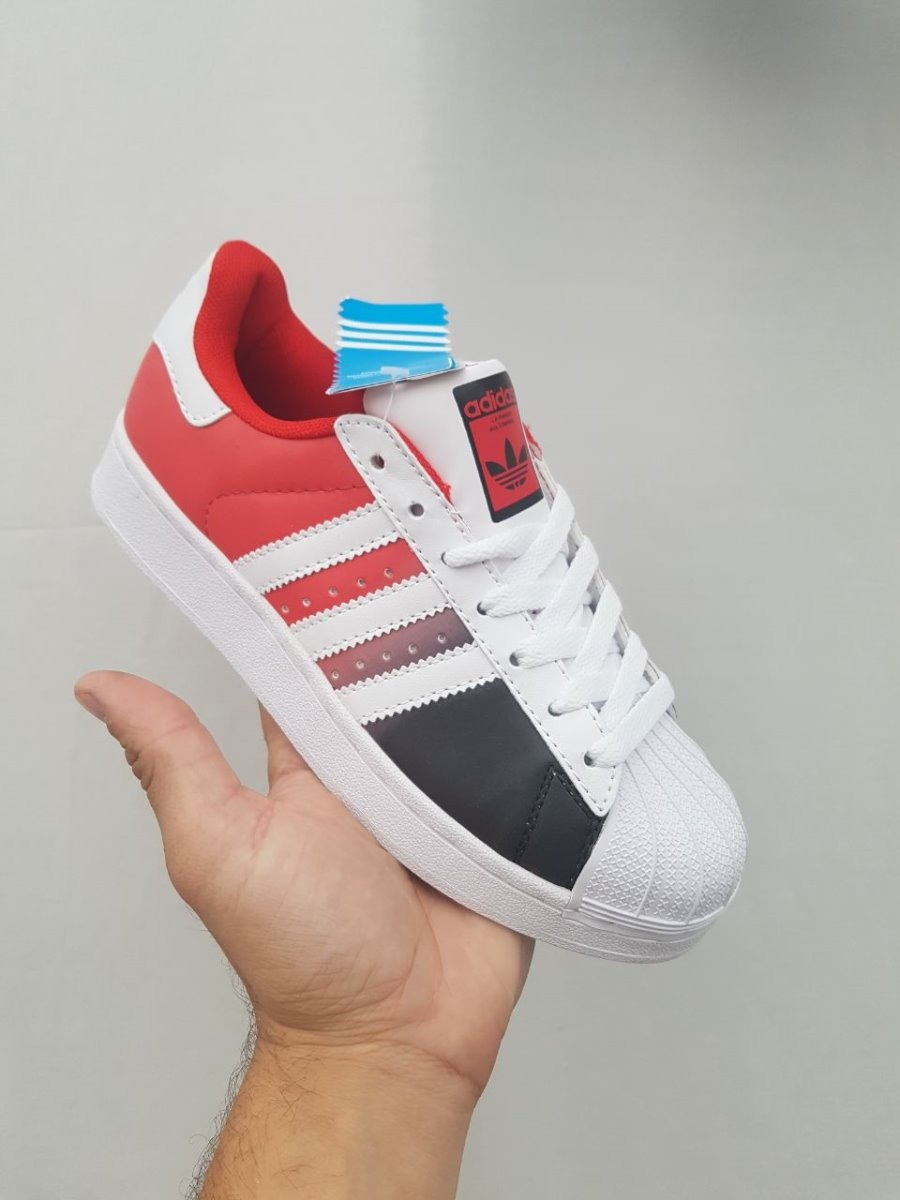 adidas superstar rojas y blancas