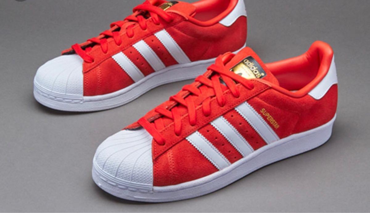 zapatillas rojas adidas superstar