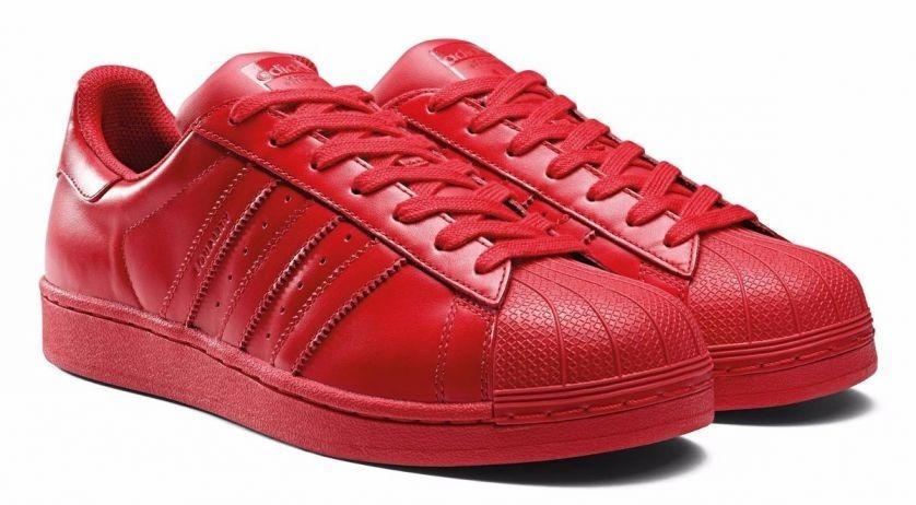 zapatillas adidas superstar rojas hombre