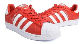zapatillas adidas superstar hombre rojas