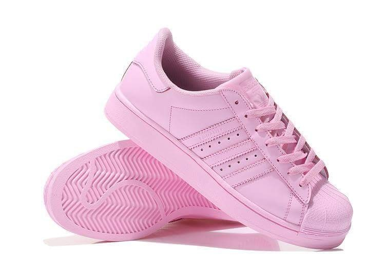 zapatillas superstar rosas
