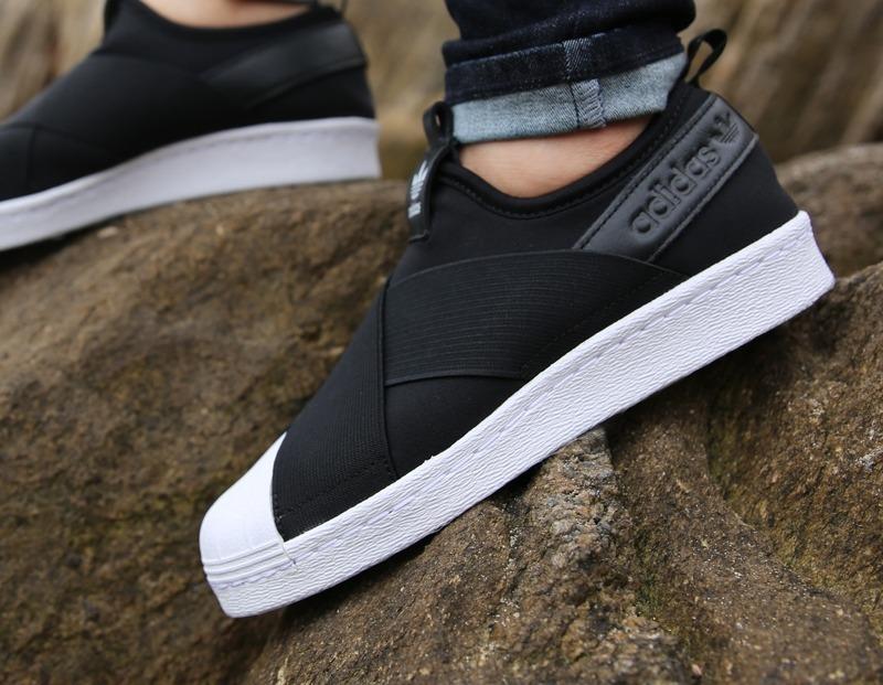 seleccione para auténtico garantía limitada comparar el precio Zapatillas adidas Superstar Slip On Neg/bla De Mujer