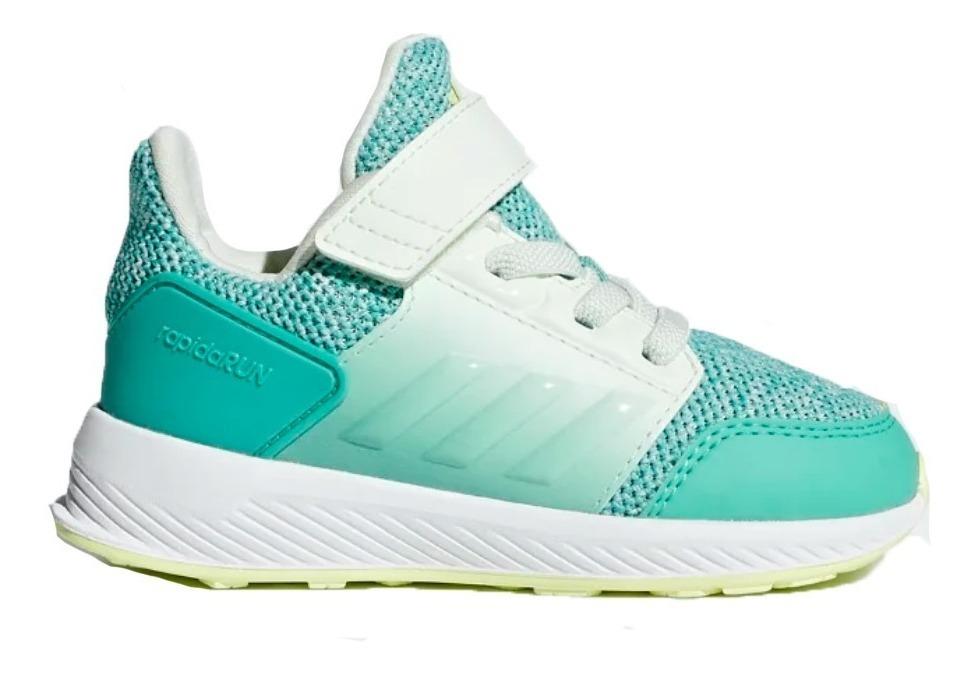 32ab51c6 zapatillas adidas training rapidarun niños azul o verde clar. Cargando zoom.