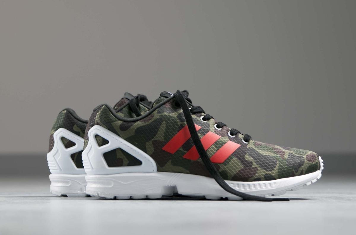 low priced 426d8 4b20e zapatillas adidas zx flux hombre verde militar original new. Cargando zoom.