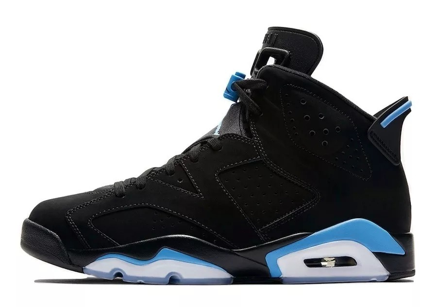 69497bbf1af zapatillas air jordan 6 retro black university blue. Cargando zoom.