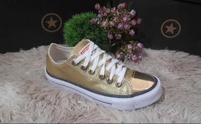 Zapatillas All Star Doradas! Fabricadad En Brasil