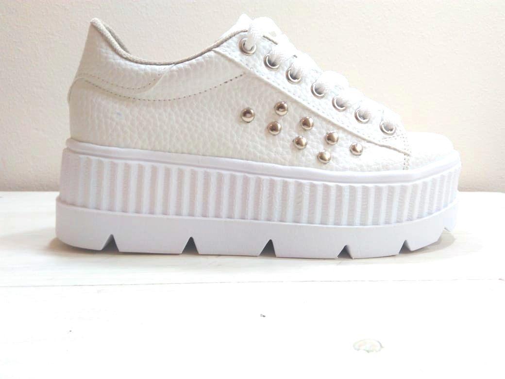 c2171f3ab1 Zapatillas Altas Mujer Plataforma Eco Cuero - $ 1.100,00 en Mercado ...