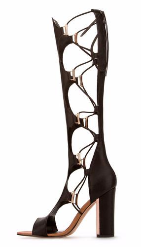 zapatillas andrea botas romanas gladiador negras 11071