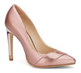 distribuidor mayorista 8080f c7a7a Zapatillas Color Oro Rosa Andrea Zapatos Cerrados Rosas Metalizados