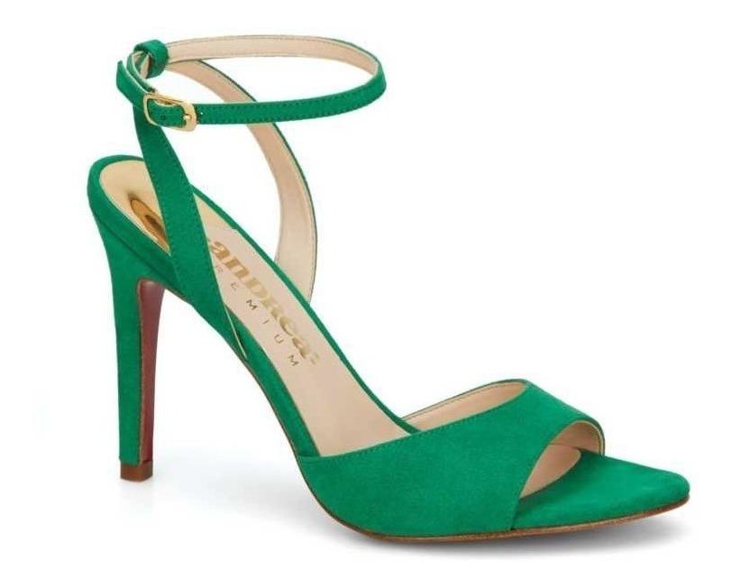 Andrea 2640785 Verde Zapatillas Sandalias Fino Tacón 64814 8wnOPkX0