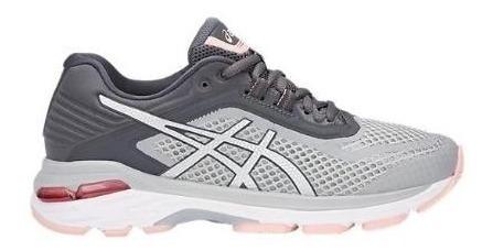Zapatillas Asics Gel Gt 2000-6 Gris/rosa Mujer Running