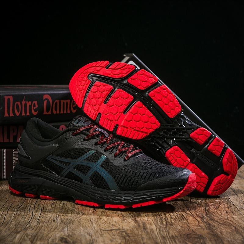 zapatillas asics gel roja y negra