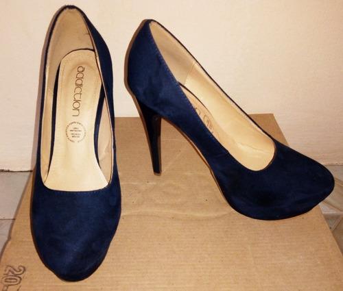 9b2c398266e Zapatillas Azul Marino De Tacon Alto Y Plataformas -   399.00 en ...