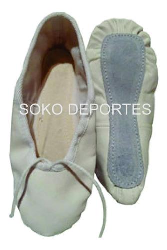 zapatillas badanas media punta + medias can can  blanco negro rosa