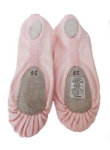 zapatillas ballet y danza en rosado negro y blanco