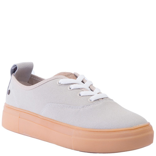 zapatillas bamers suede flatform beige