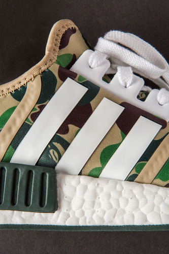 zapatillas bape x adidas nmd camuflado verde camo nuevo 2017