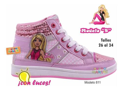 zapatillas barbie con luces orig footy 810 811 mundo manias