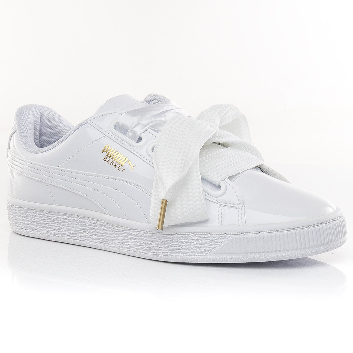 reputable site e537a 30b87 Zapatillas Basket Heart Patent White Puma