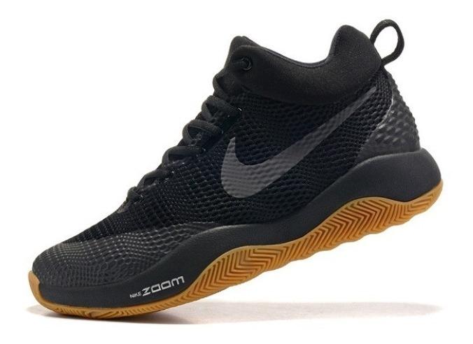 Zapatillas Basquet Nike Zoom Rev Negras 2017 Originales
