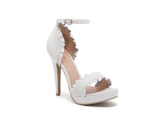zapatillas blancas, novia, tipo sandalia ankle strap, andrea