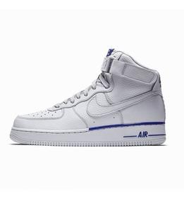 Zapatillas Bota Nike Air Force 1 Mid Txt Gris Azul
