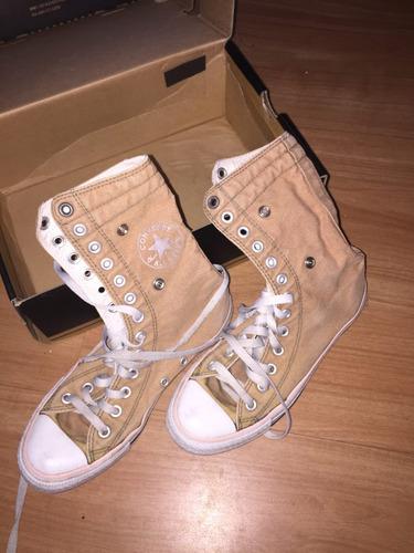 zapatillas botas converse talla 37 con poco uso