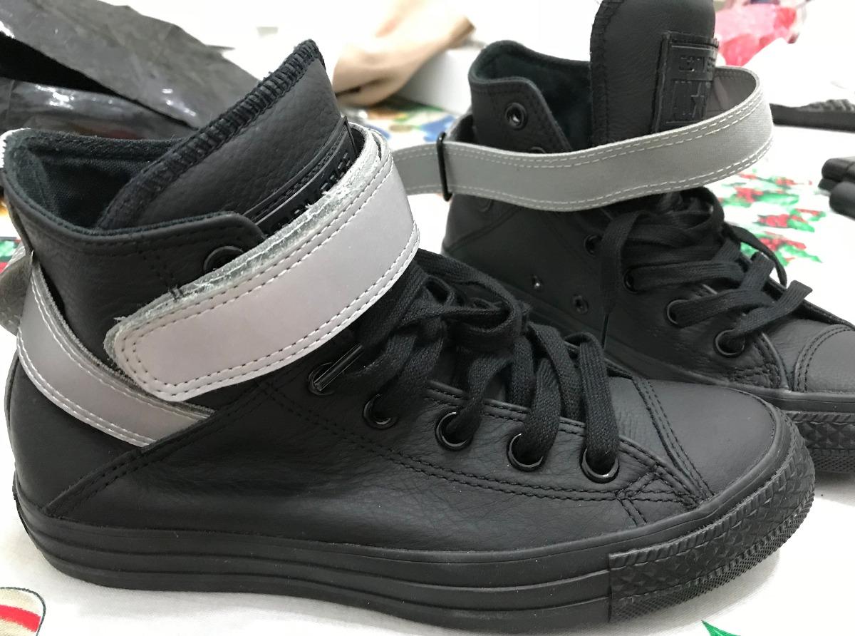 zapatillas botitas negras converse
