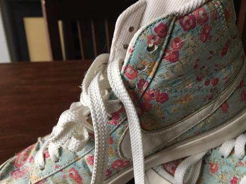 zapatillas botas nike floreadas 38