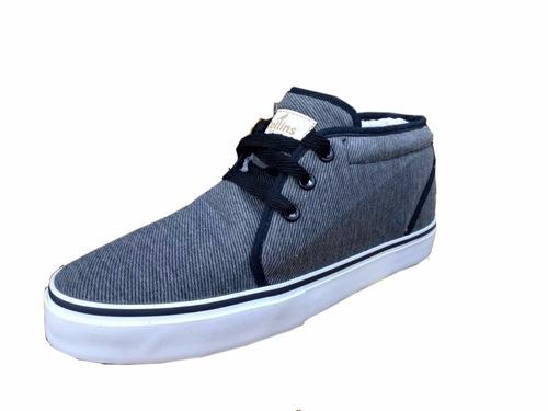 zapatillas botas urbanas mujer hombre negras cuero cordero