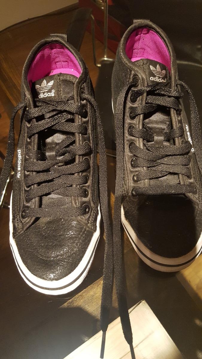 903a10bfa79af zapatillas botitas adidas con taco interno color negras. Cargando zoom.