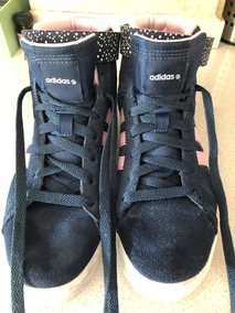 Botitas Zapatillas adidas Retro! Negras Gamuza , Poco Uso!
