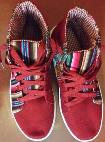 zapatillas botitas aguayo andinas forradas rellenas