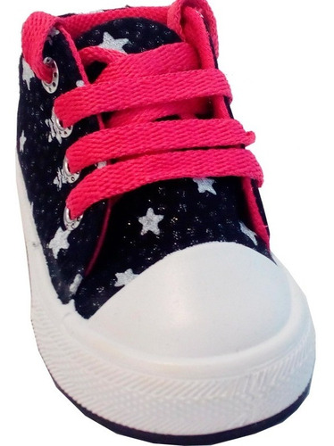 zapatillas botitas bebe lona small modelo stacy (0123)