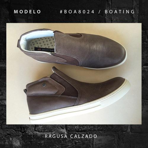 zapatillas botitas boating hombre