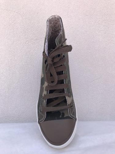 zapatillas botitas camufladas  y de jean - rave 1020