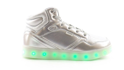 zapatillas botitas con luces led jaguar usb hipotonos
